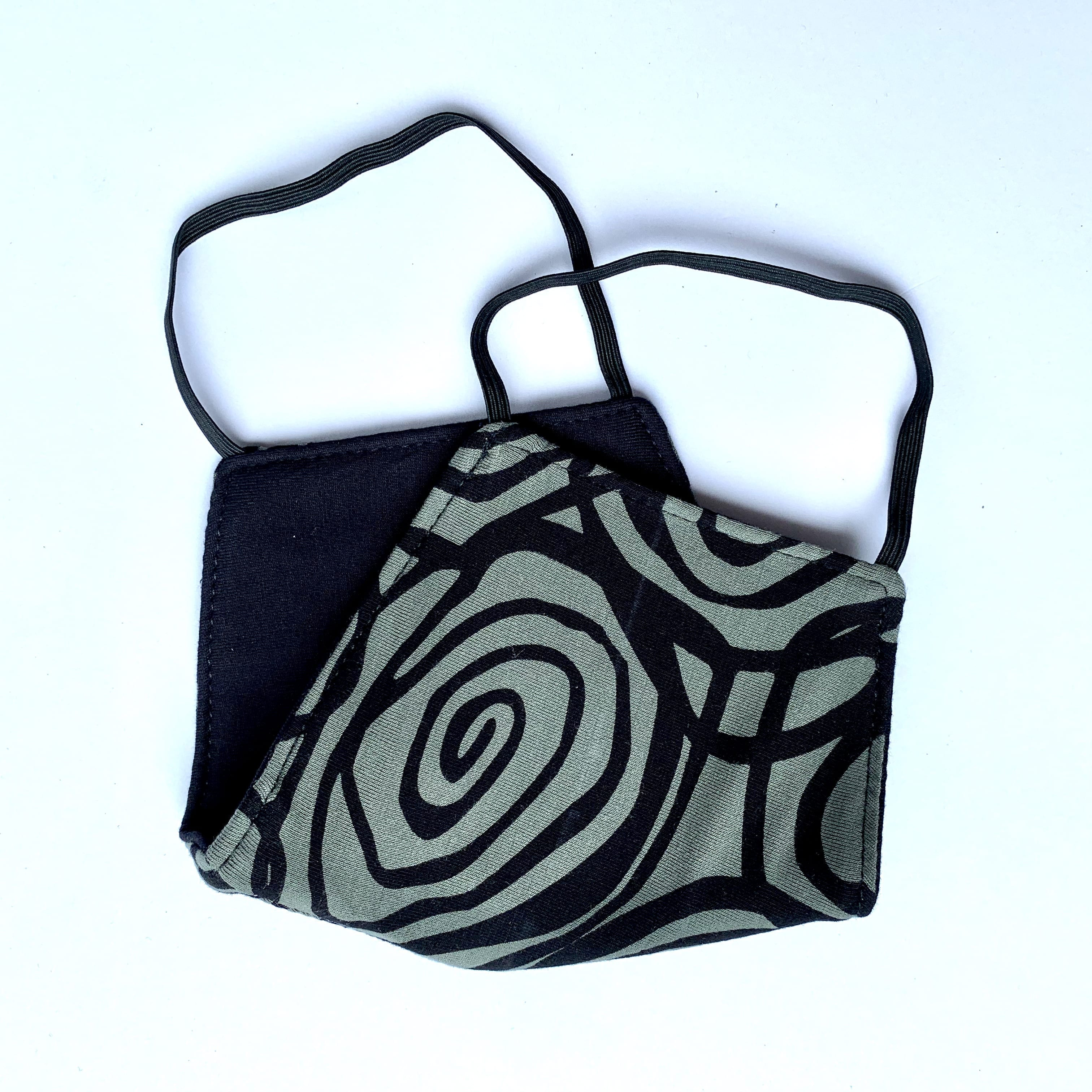 Black grey swirl
