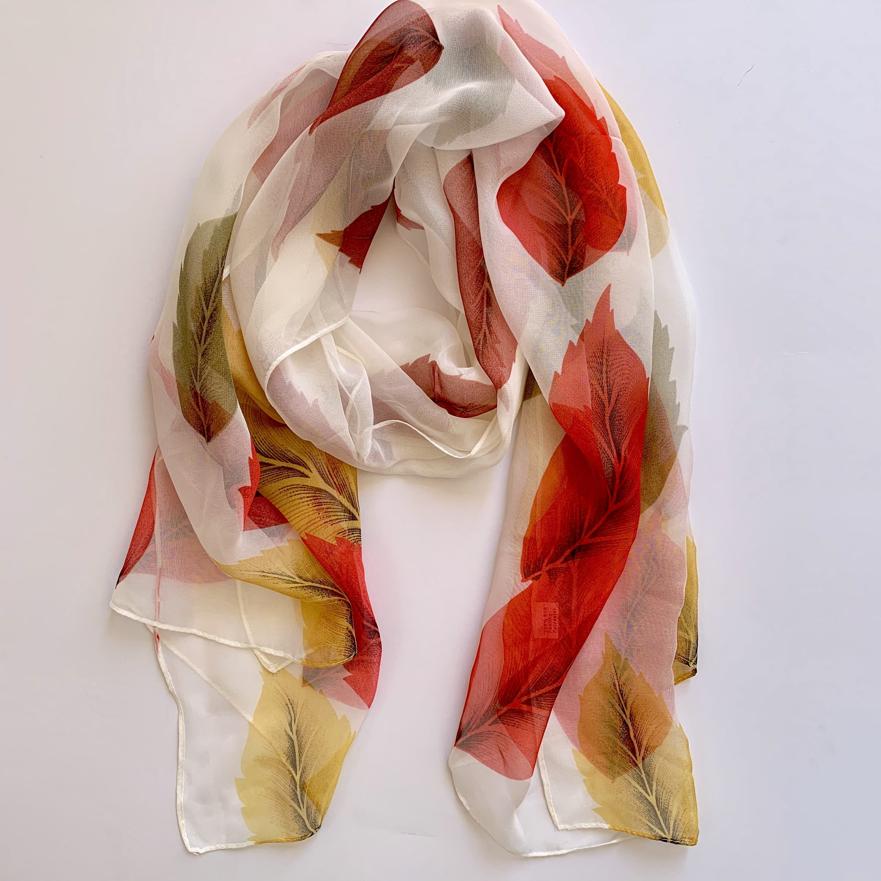 Matching head scarf - Autumn leaves