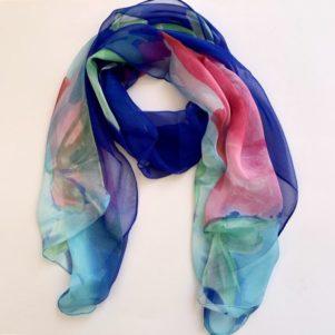 Matching head scarf - Royal blue pink