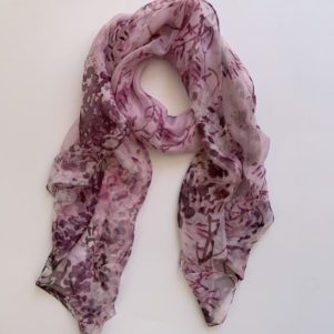 Matching head scarf - Lilac purple mix