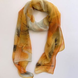 Matching head scarf - Burn orange