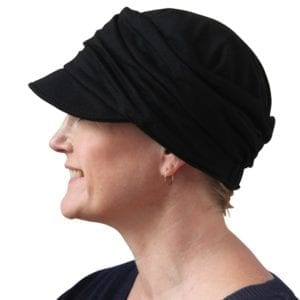 Low backed jersey cap - black