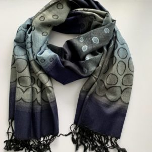 Pashmina wrap - navy/grey