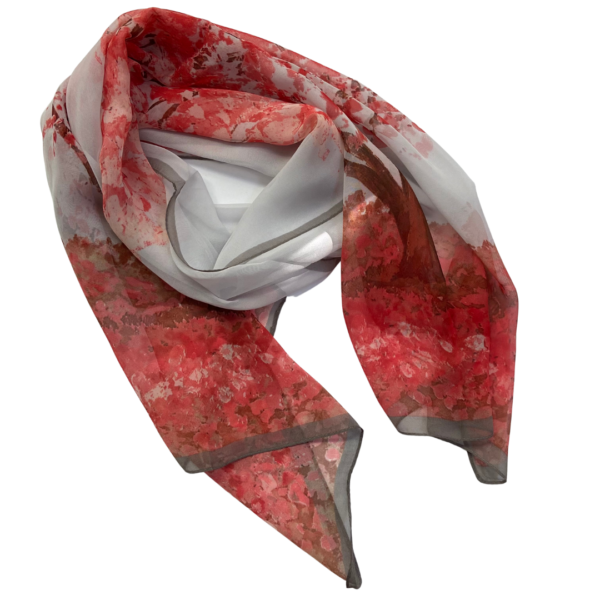 Matching Head Scarf - red cherry blossom