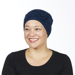 Hat with tails navy side