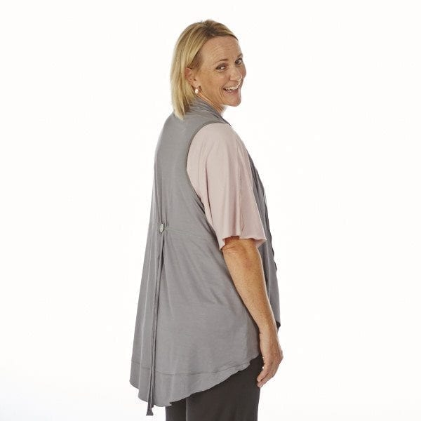 Tunic coat with button feature