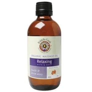 Organic massage oil relaxing