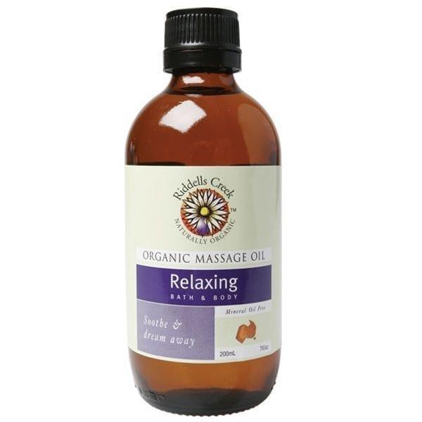Organic massage oil relaxing