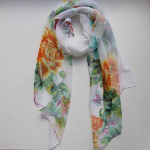 Matching Head Scarf - Spring Mix Orange Green