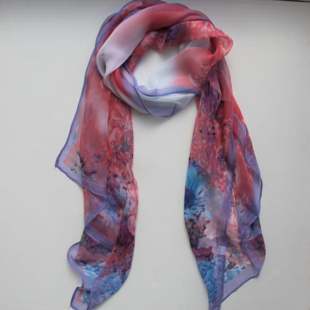 matching scarf lilac blush floral treat me