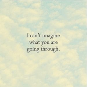 I can't imagine - fundraising card