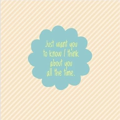 I think about you all the time - Fundraising Card