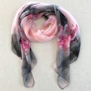 Pink/grey floral