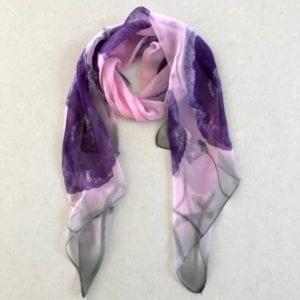 Purple pink floral