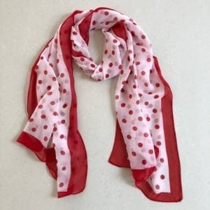 Matching head scarf - Red White Dots