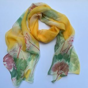 Matching head scarf - Yellow floral mix