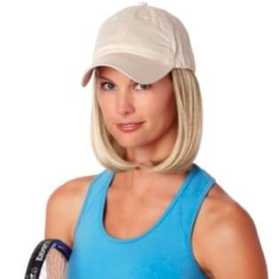 Beige cap with hair