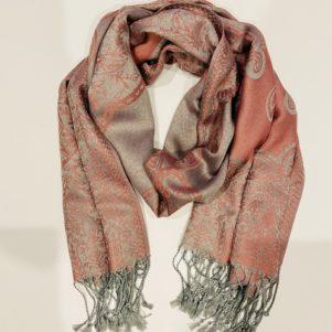 PASHMINA WRAP - pink/grey